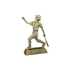 Gold Male 8 inch Baseball Resin Trophy 50603-g