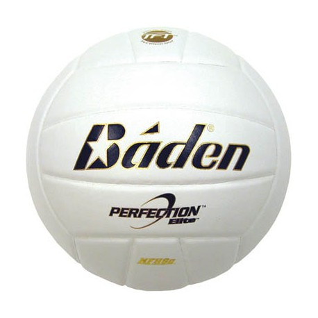Baden VX5E Perfection Elite Leather Game Volleyball, WHITE