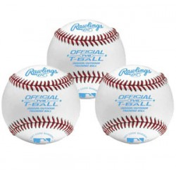Rawlings TVB Indoor/Outdoor T-ball Training Baseball - One Dozen