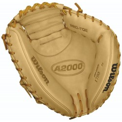 Wilson A2000 SuperSkin WTA20RB151790SS Adult Baseball Catcher's Mitt - 34 INCH - Right Hand Throw