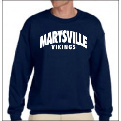 Marysville Vikings Crewneck Sweathirt w/Print