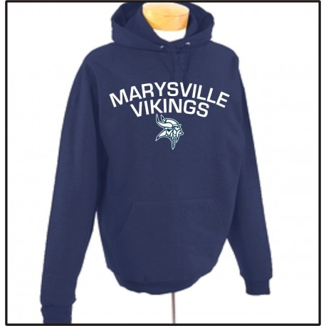 Marysville Vikings Hooded Sweathirt w/Print