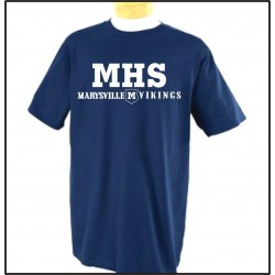 Marysville Vikings Short Sleeve T-Shirt w/Print