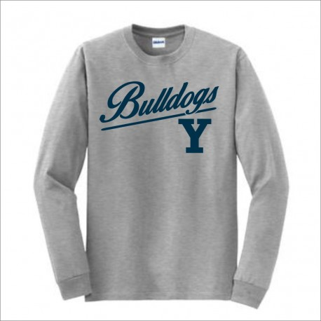 Yale Bulldogs Long Sleeve T-shirt w/ Print